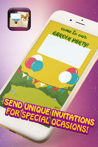 Party Invitations and e-Cards – Announcement and Save-The-Date Card Maker for All Occasions screen