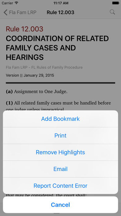Florida Family Law Rules of Procedure (FL Law) iPhone Screenshot 3