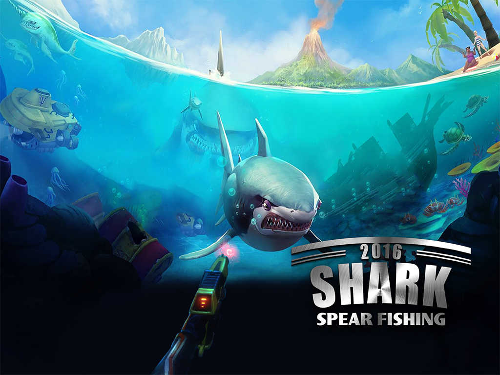 App shopper 2016 shark spear fishing simulator great for Shark fishing games
