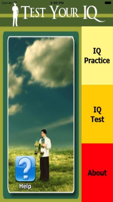 Test Your IQ Level iPhone Screenshot 1