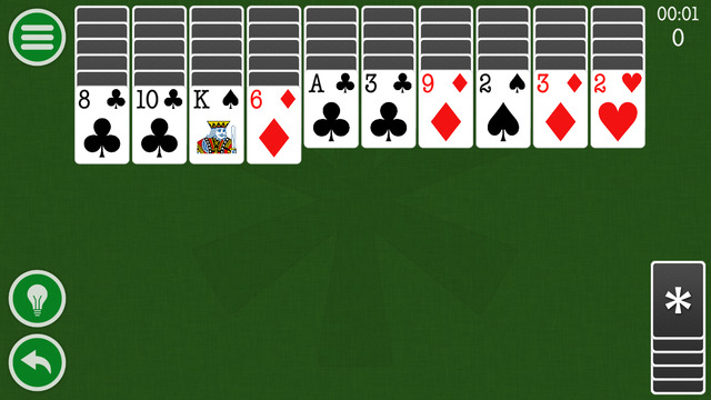 Classic Spider Solitaire Patience Game by Kinetic Stars KS Screenshots