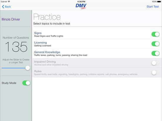 DMV Test Prep - Illinois iPad Screenshot 2