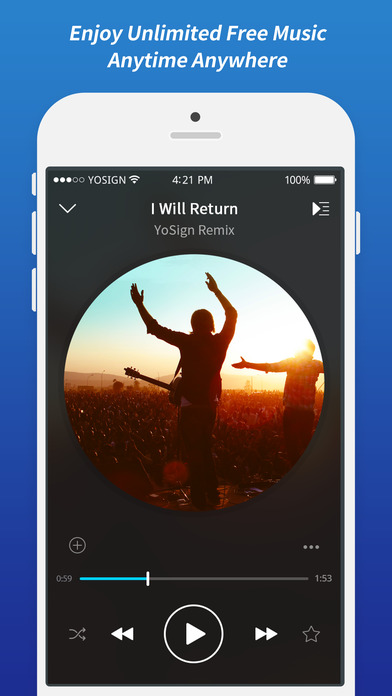 FancyMusic - Free Music Player & Cloud Song Stream-0