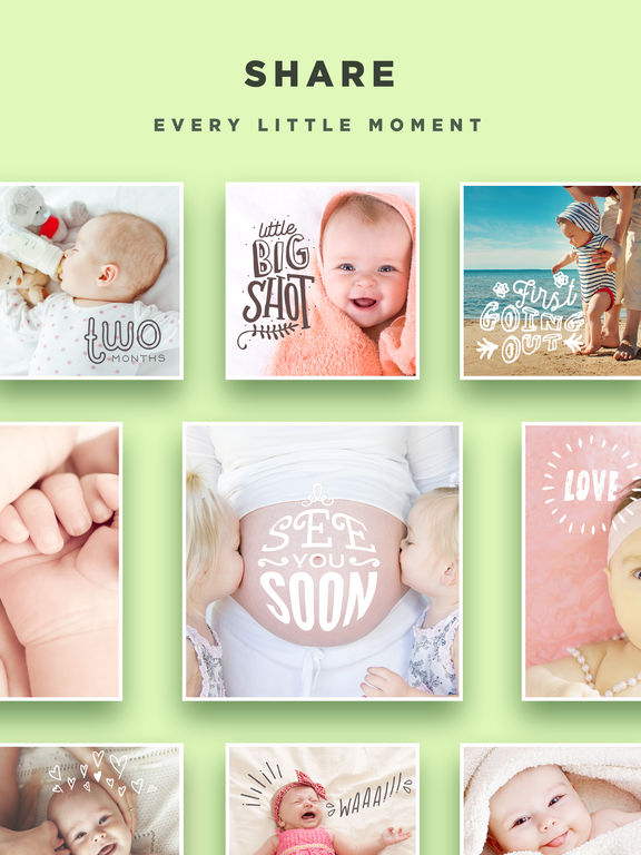 Screenshots of Baby Story - Pregnancy Pics Baby Milestones Photo for iPad