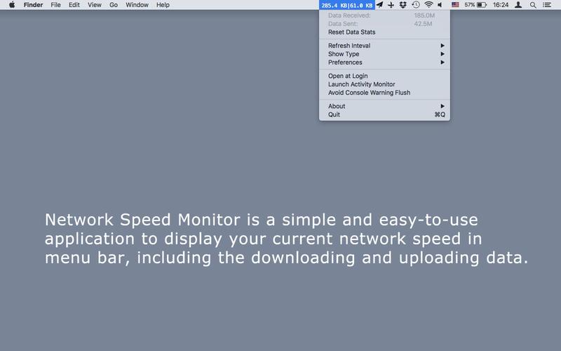 Network Speed Monitor for Mac 2.1 激活版 - Mac上优秀的菜单栏网速监控工具