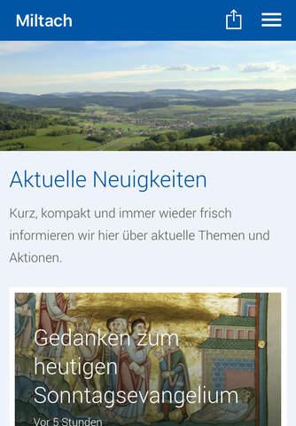 Pfarrei Miltach screen