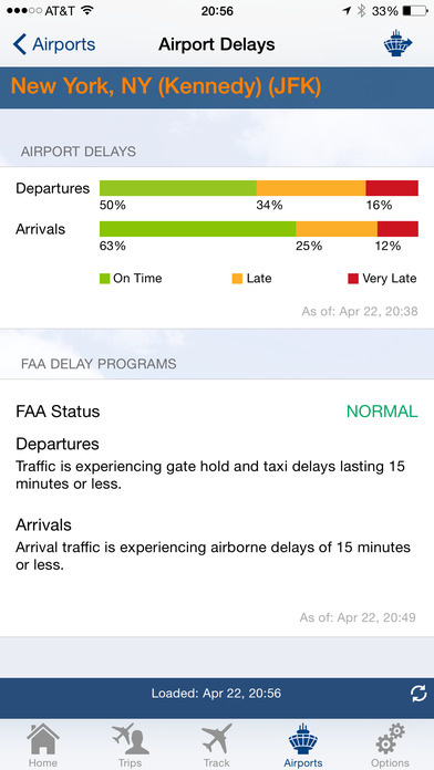 FlightView - Real-Time Flight Tracker and Airport Delay Status iPhone Screenshot 5