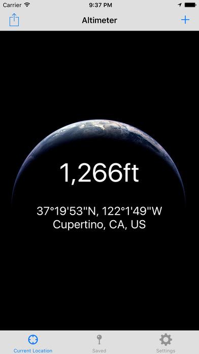 Current Altitude Free iPhone Screenshot 1