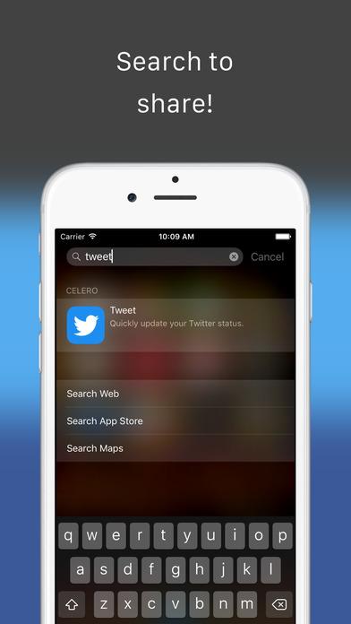Celero - Quickly tweet, post and text 앱스토어 스크린샷