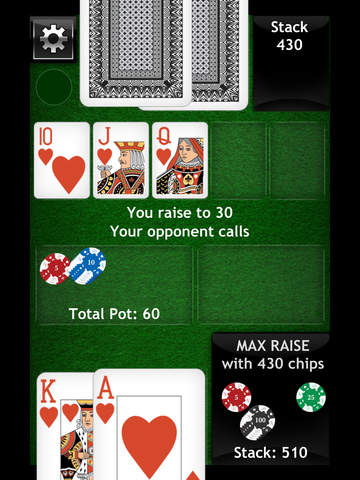 Texas Hold em Offline Poker - Best Heads Up AI Game Play screenshot