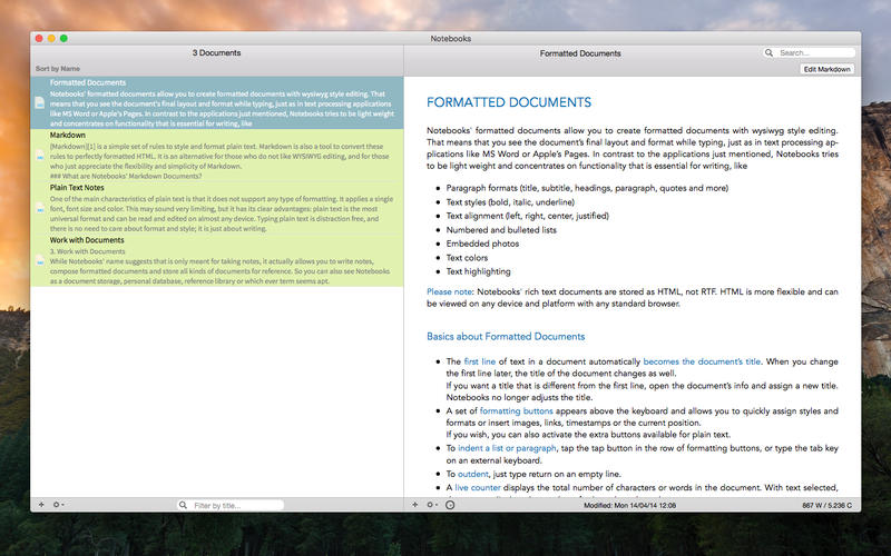 Notebooks - Create Documents, Organize Files, Manage Tasks Screenshots