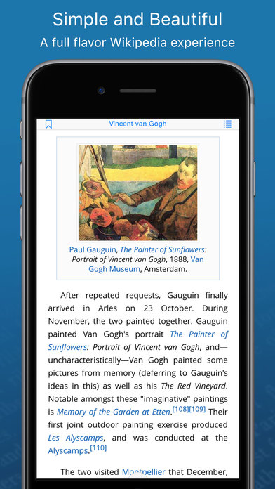 Screenshot #6 for WikiLinks — Smart Wikipedia Reader
