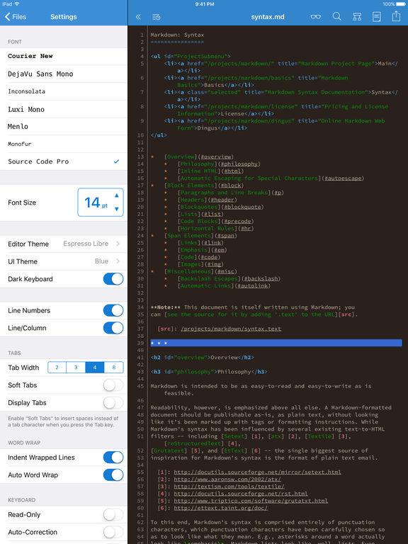 Textastic Code Editor 6 Screenshots
