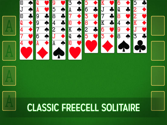 freecell solitaire green felt solitaire game