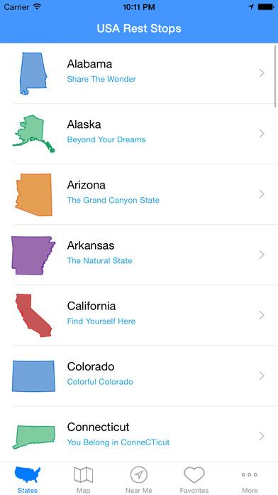 usa rest stops on the app store. Black Bedroom Furniture Sets. Home Design Ideas