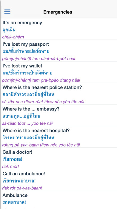 Thai Dictionary Free iPhone Screenshot 5