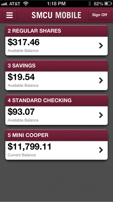 SMCU Mobile from San Mateo Credit Union iPhone Screenshot 1
