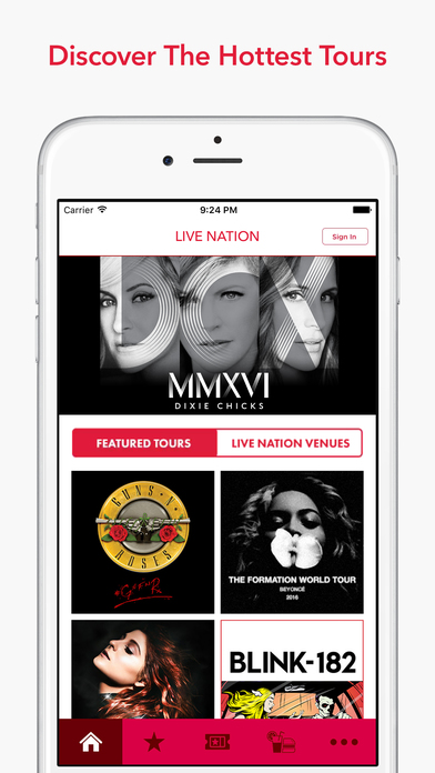 Live Nation iPhone Screenshot 1