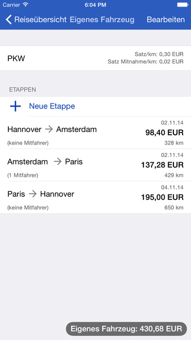 Traveling Expenses iPhone Screenshot 4