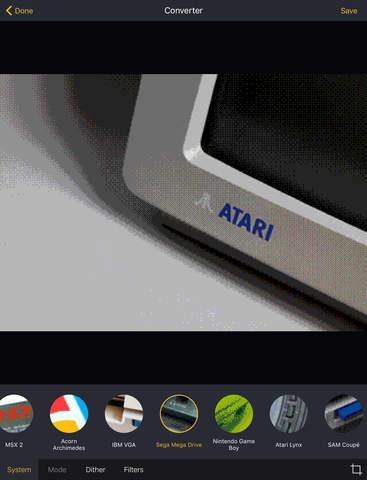 Retrospecs - a retro computing / pixel art camera app Screenshots