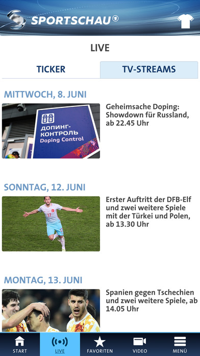 SPORTSCHAU iPhone Screenshot 2