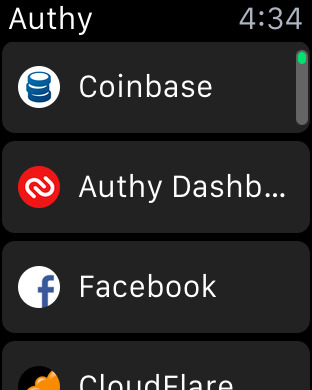 Authy Screenshot