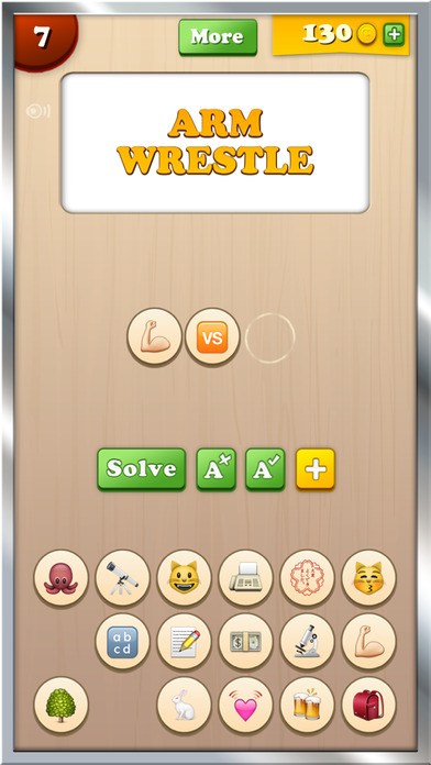 Screenshots of Find the Emoji - New Free Animated Emojis Icons & Extra Emoticons Keyboard Art Guess Game App 2 for iPhone