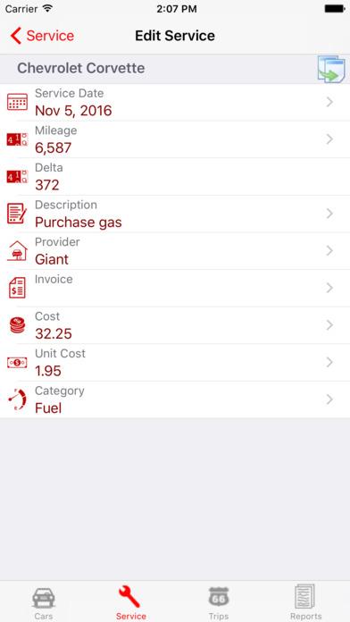 AutoLog iPhone Screenshot 4