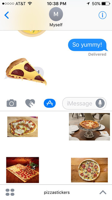 Pizza Stickers for iMessage screenshot 3