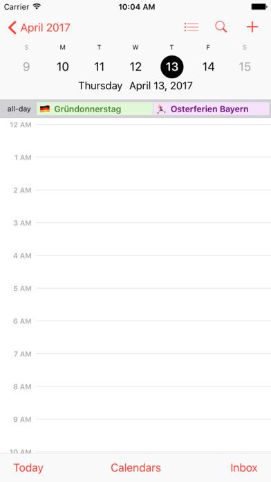 Feiertage & Schulferien Deutschland iPhone Screenshot 3