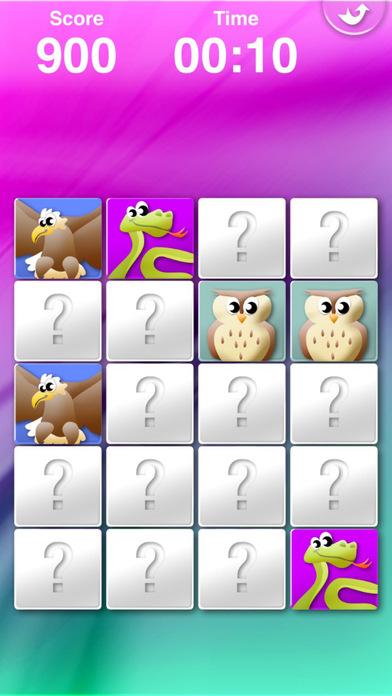 Animals' Matching HD iPhone Screenshot 1