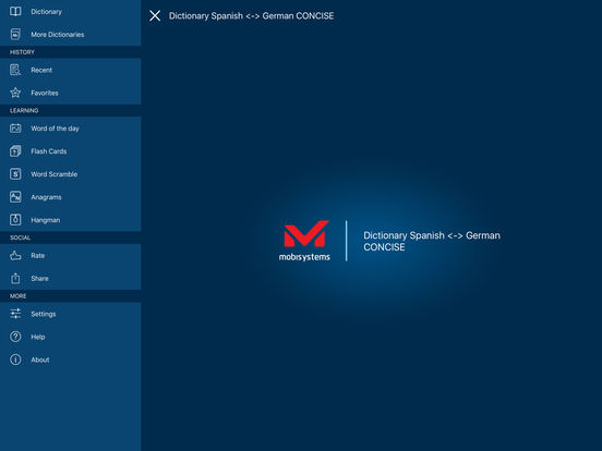 PONS Compact Dictionary Spanish <> German iPad Screenshot 1