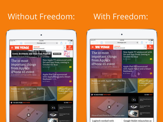 Freedom - Ad Blocker screenshot