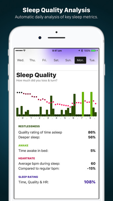 AutoSleep. Track Sleep from Watch Automatically Apps for iPhone/iPad screenshot