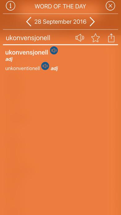 Audio Collins Mini Gem German-Norwegian & Norwegian-German Dictionary iPhone Screenshot 3