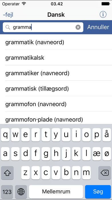 Din Danske Ordbog iPhone Screenshot 3