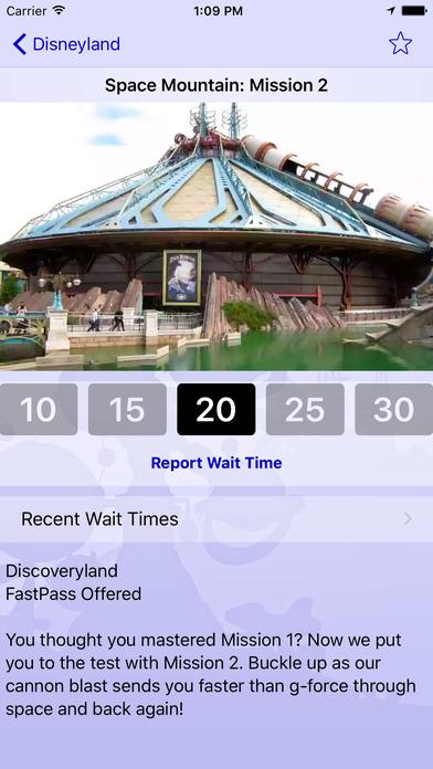 Disneyland Paris Wait Times iPhone Screenshot 2