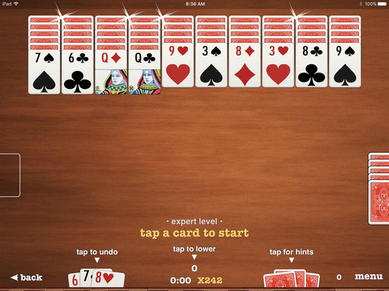 Screenshots of ▻Spider Solitaire for iPad