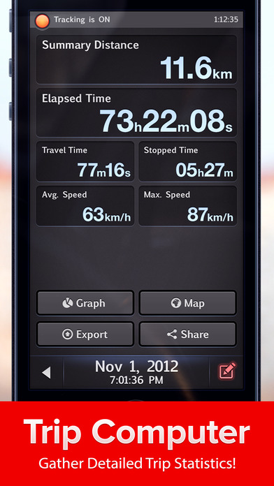 Speed Tracker. GPS Speedometer and Trip Computer iPhone Screenshot 3