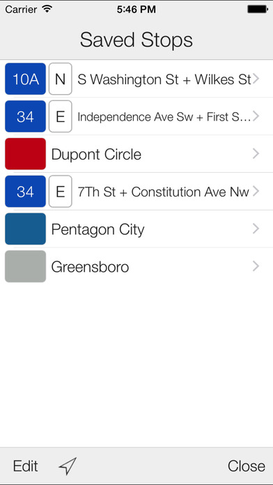Metro Stop: DC Train Tracker iPhone Screenshot 3