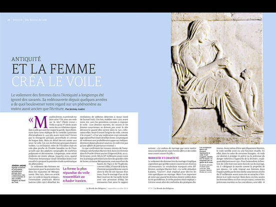 Le Monde des Religions iPad Screenshot 1
