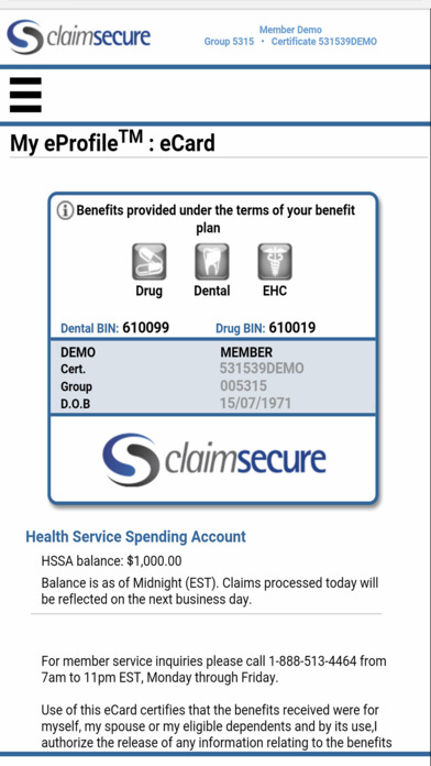 ClaimSecure Mobile iPhone Screenshot 2