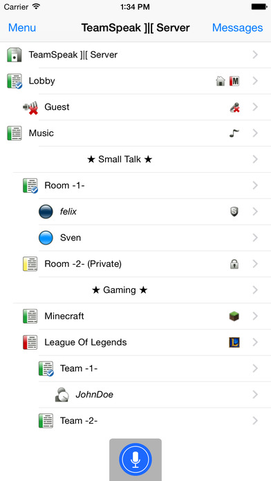 TeamSpeak 3 Screenshots
