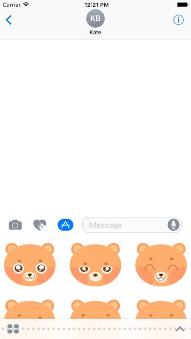 Cute Bear Emoji screenshot 1