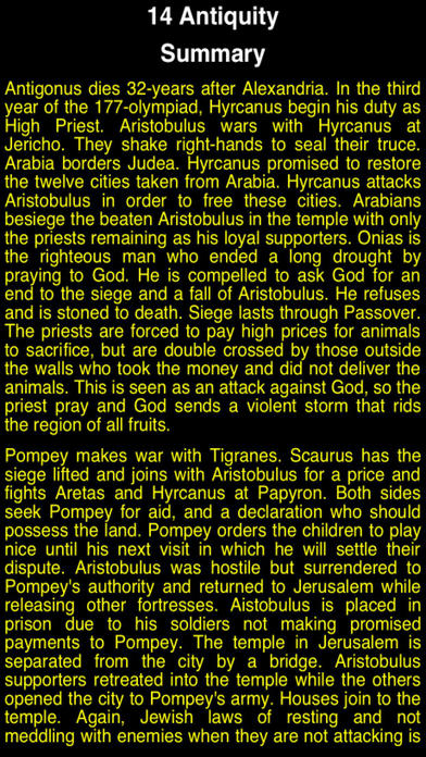 Summary Flavius Josephus (part 4) iPhone Screenshot 3