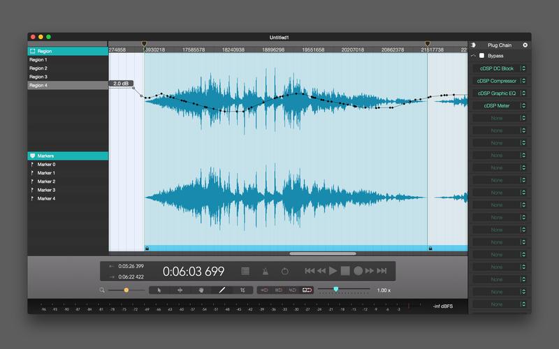 Fluctus  - Audio Editor for Mac