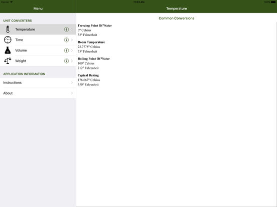 KitchenUnits iPad Screenshot 2