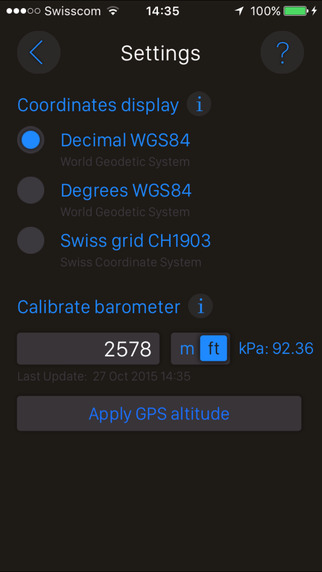 Altimeter+ iPhone Screenshot 3