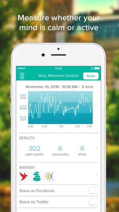 Screenshots of Muse: the brain sensing headband for iPhone