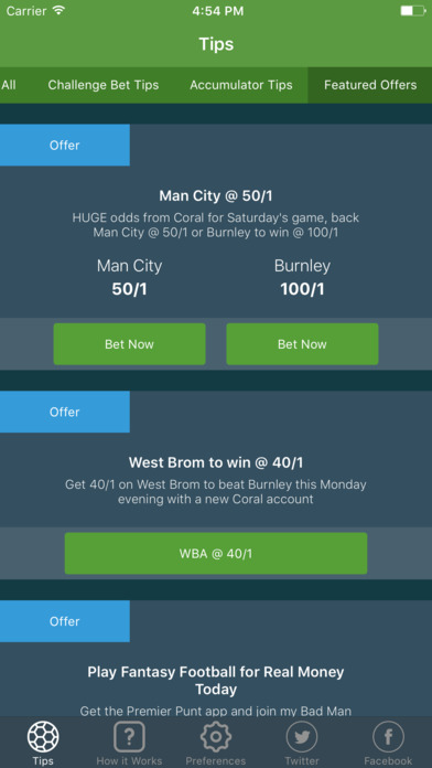 Football betting tips apps